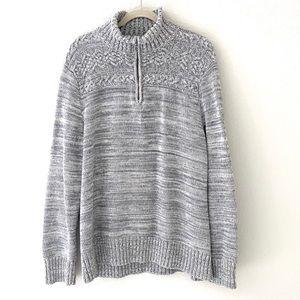 Banana Republic Men's Gray Knit Sweater